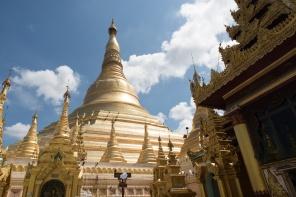 Stupa de oro en Shwedagon
