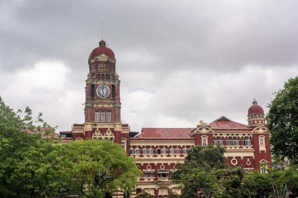 Corte de Yangon - Parque Mahabandoola, Yangon