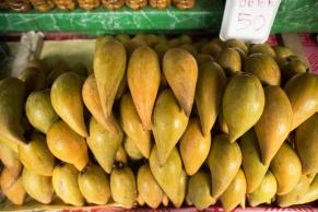 Este tipo de mango es más parecido al mamey, pero amarillo por dentro, muy cremoso y dulce