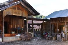 Parado turístico en Laos