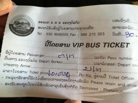 Boleto VIP - Bokeo a Luang Namtha